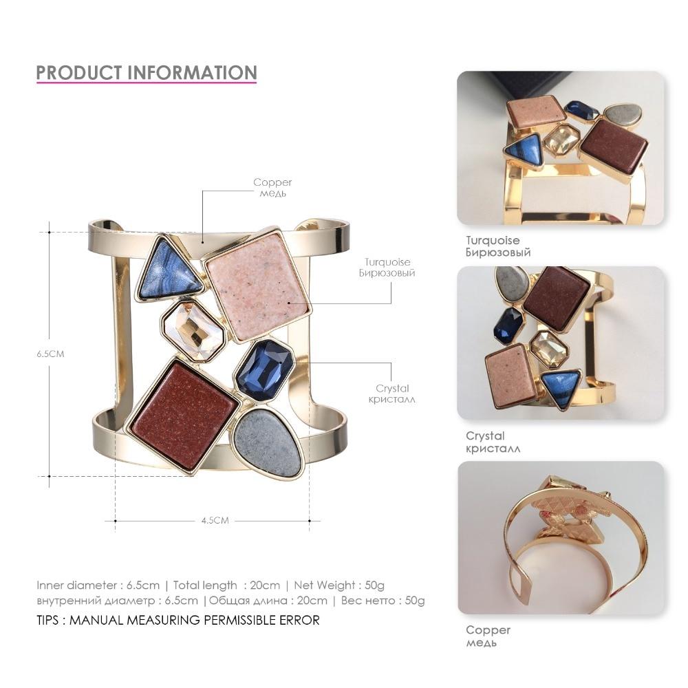 eManco Wide Βραχιόλι Cuff για γυναίκες με - Κοσμήματα μόδας - Φωτογραφία 4
