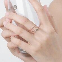 Everoyal Luxury Zircon Rose Moon Star Gold Rings For Women Jewelry Fashion 925 Sterling Silver Finger Female Biijou