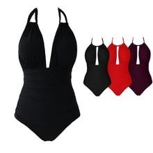 2 стиля одежды 4XL большой плюс размер купальники для женщин сексуальный цельный купальник 2019 женский пляжный купальный костюм боди