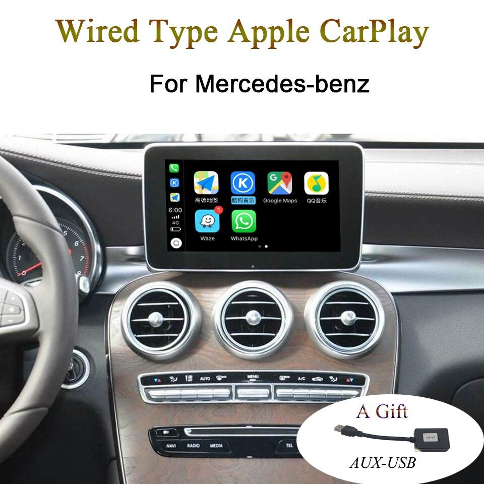 Nouveau Type de fil de voiture Apple CarPlay Interface vidéo pour mercedes-benz A B C GLC CLA GLA GLS classe soutien Waze carte appel téléphonique