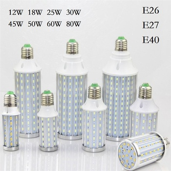 E26 E27 E39 E40 12W 18W 25W 30W 45W 50W 60W 80W bombillas LED tipo mazorca SMD5730 foco para lámpara LED para luz y Lampada colgante iluminación