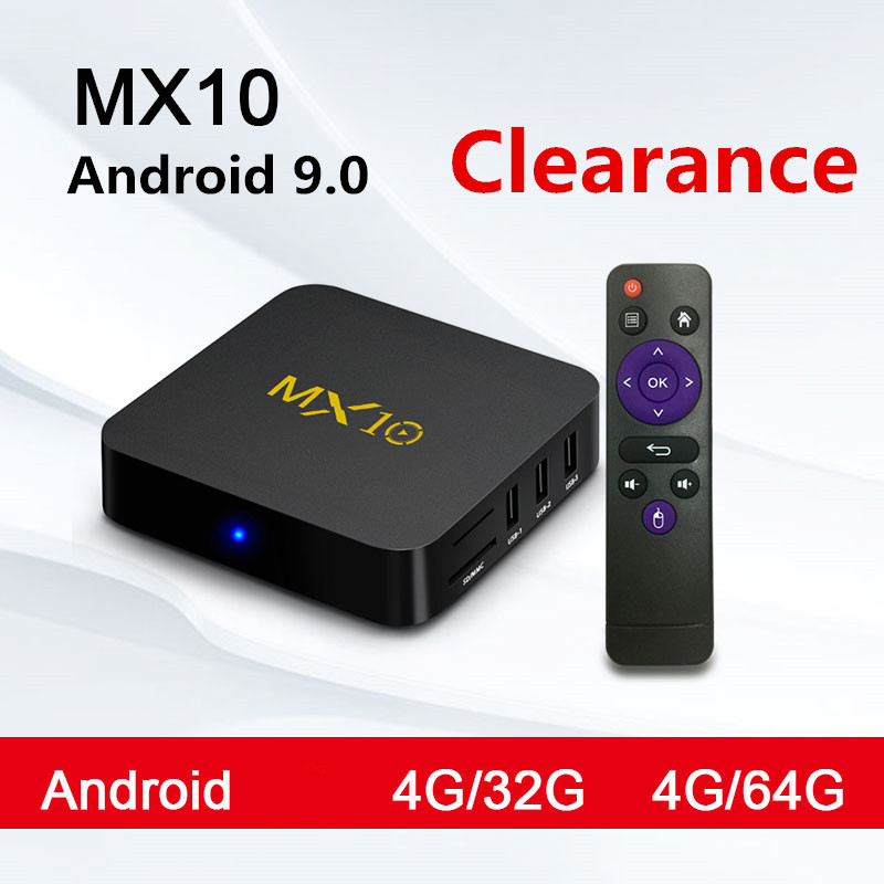 MX10 Android TV Box RK3328 4K TV Box Android 8.1 /9.0 USB3.0 4GB 32GB 64GB Miracast WiFi HD Media Player For Smart TV PK T9