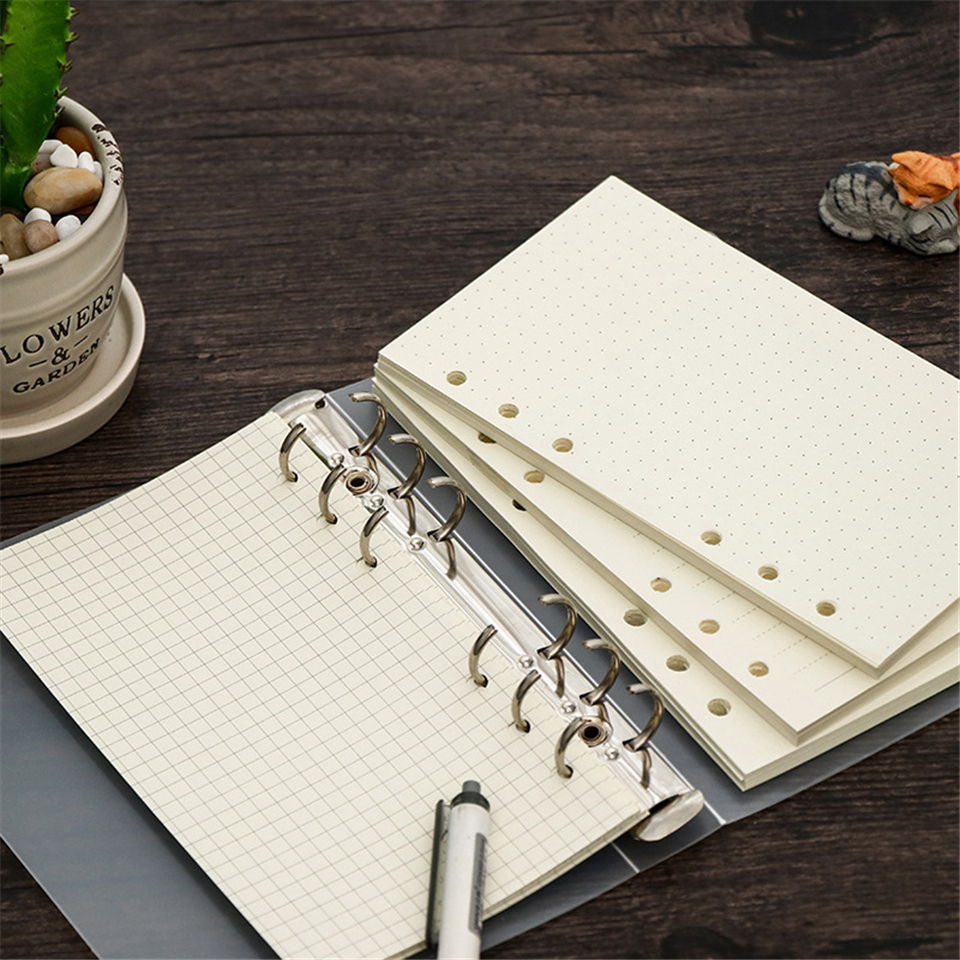 A5 A6 A7 Filler Papers 6 Holes Dokibook Notebook Inner Paper Spiral Paper For Filofax Binder Planner School Supplies
