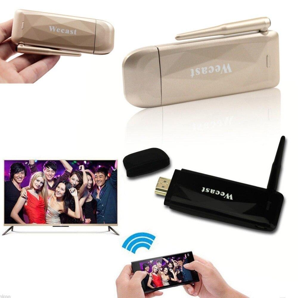 imágenes para Wecast antena Inalámbrica WIFI Teléfono de vídeo a HDMI TV Dongle para el iphone 5 6 S 7 Plus Samsung Galaxy S6 S7 Borde Nota 5 Android