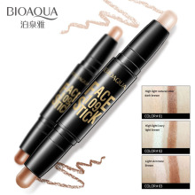 BIOAQUA Face Makeup Concealer Pen Multi effect Double Head 3D Bronzer Highlighter Stick Texture Contour Pencil Foundation
