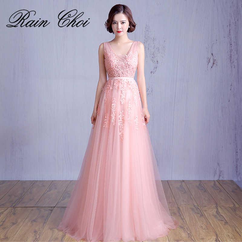 מסיבת חתונת שמלת אפליקציות אונליין פורמליות נשף שמלת vestido דה noite ארוך שמלות נשף 2019