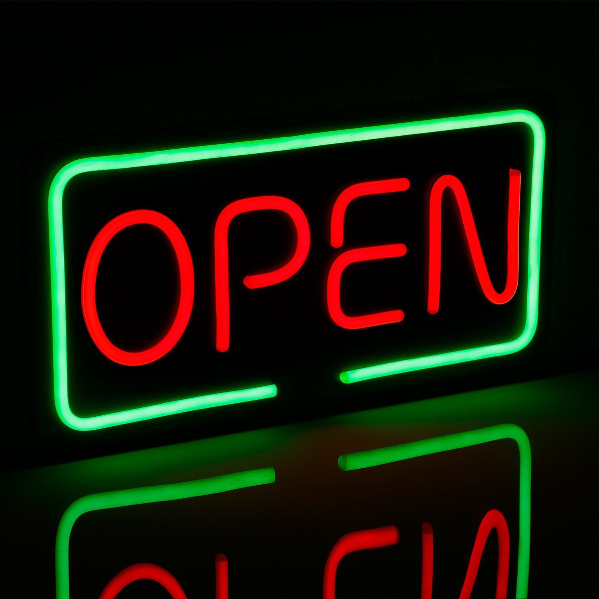 LED OPEN Neon Sign Light Hanging Bar Party Store Visual Artwork Lamp Decoration Neon Light Board 50X25cm Commercial Lighting