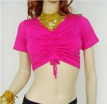 50 pcs wholesales fedex dhl Sexy Women Lady Short Sleeve Top Tank Tops Slim Belly Dance Tops Shirt
