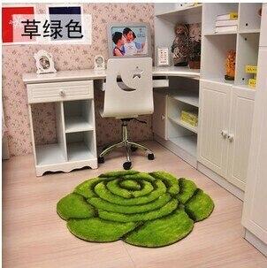 3D стерео ковер с розами журнальный столик для гостиной коврик диван кровать спальня коврики Европейская мода на заказ ковер - Цвет: Green