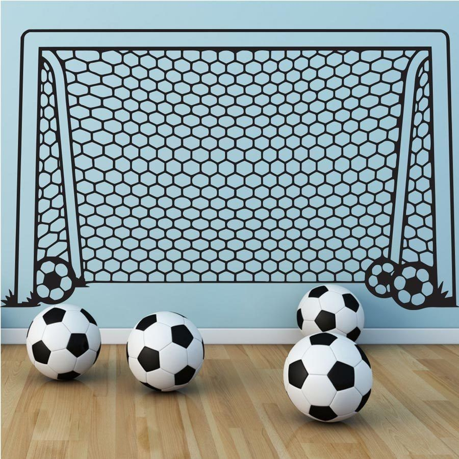 Customized Soccer Pattern Wall Sticker For Kids Rooms Diy Vinyl Removable  Goal Net Decal High Quality Football Decor Murals