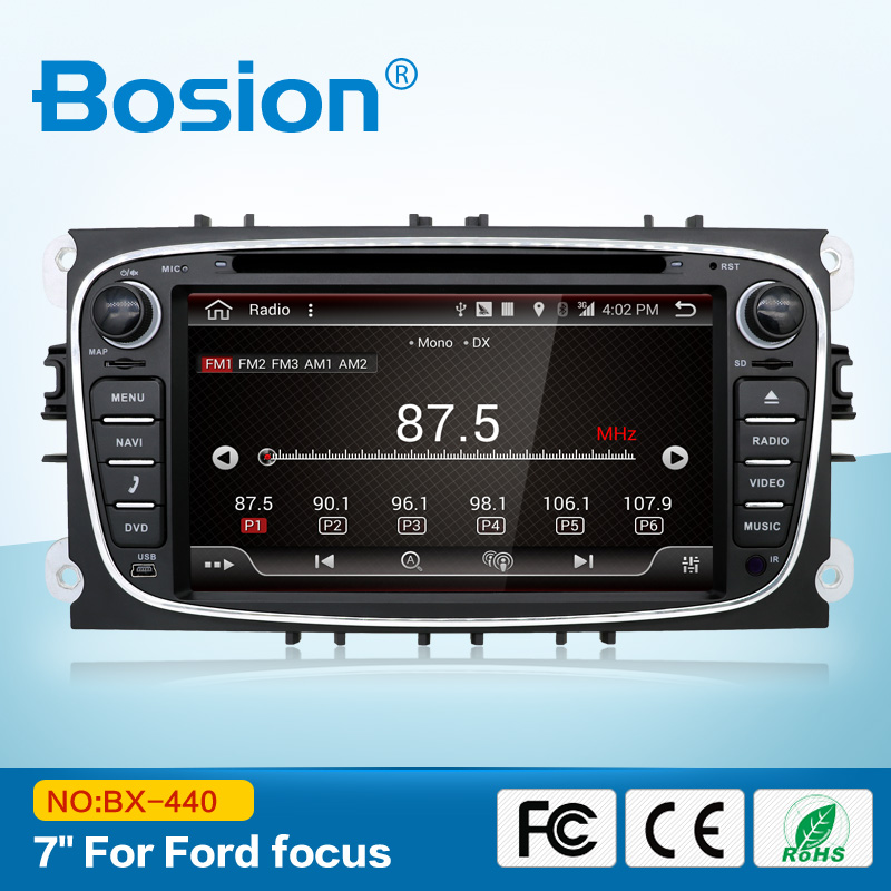 Android 7.1 Car Radio Multimedia Player GPS 2 Din Car Dvd Player Wifi Autoradio for FORD/Focus/S-MAX/Mondeo/C-MAX/Galaxy/Kuga joyous 7 car dvd player w analog tv gps for ford focus s amx c max fiesta transit kuga 2004 2008
