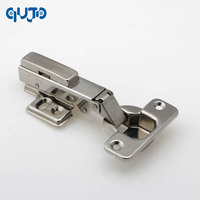 Full Overlay Furniture Hinge Stainless Steel 304 Conceal Adjustable Kitchen Cabinet Door Hinges Satin Nickel