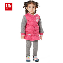 kids baby girls clothing set patchwork jacket skortpants baby girls suit winter children girls clothes 2015