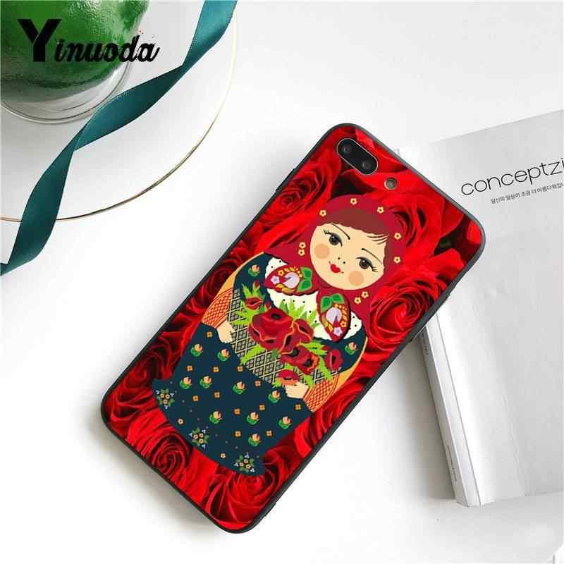 Yinuoda russe matryoshka poupées Silicone souple housse de téléphone pour iPhone 8 7 6 6S Plus X XS MAX 5 5S SE XR 11 11pro 11promax