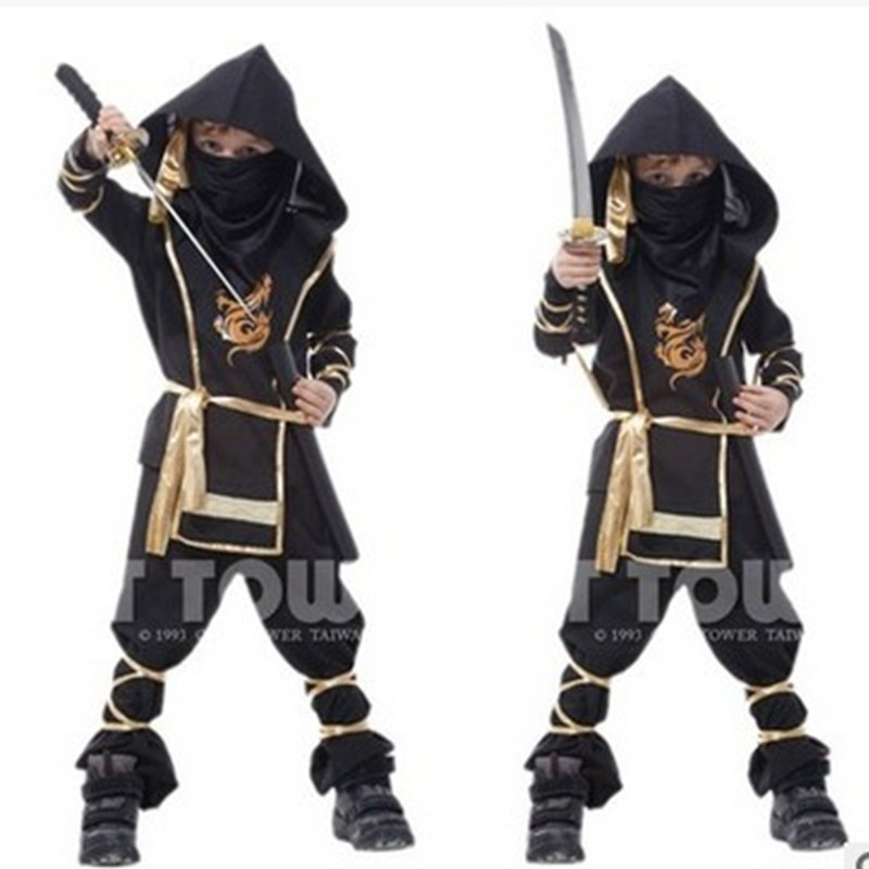 New Boys Halloween Naruto Ninja Costumes Kids Japanese warrior anime Cosplay Children's day Carnival Masquerade Stage show dress