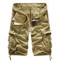 2017 Новая Мода Мужчины Грузовые Шорты Случайные Нескольких Карман Шорты Военный Камуфляж Грузовые Шорты 8 Цветов DKS003