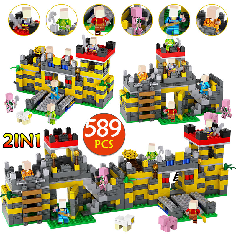 Aliexpress.com : Buy Sturdy Castle 2 in 1 My World 589PCS