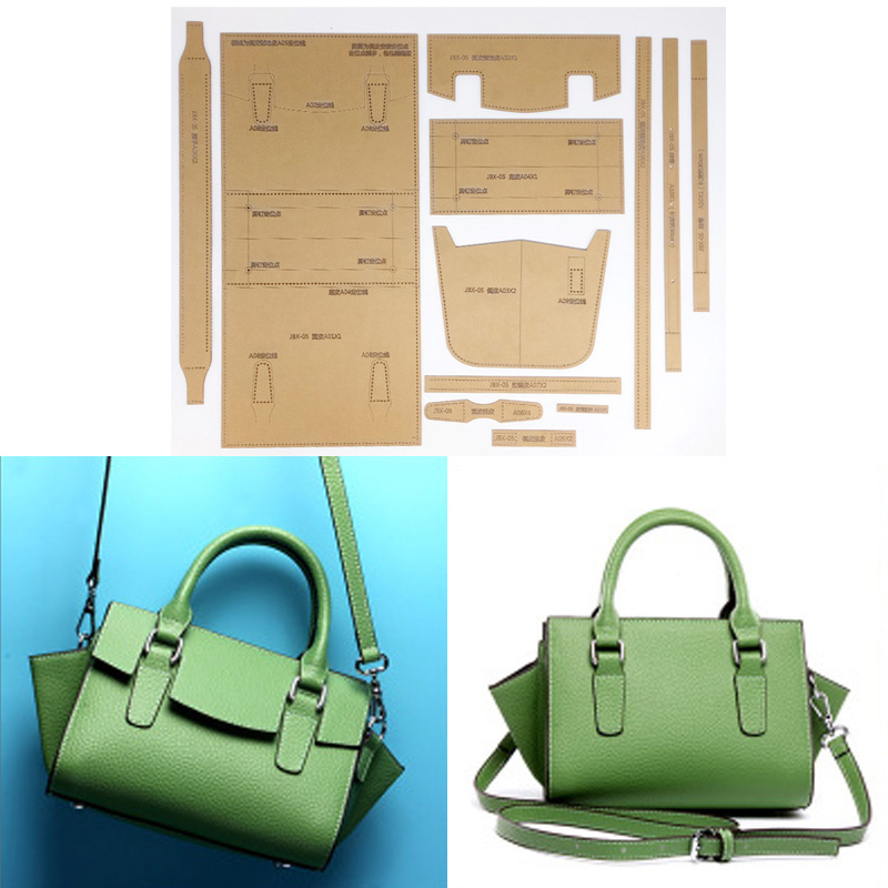 1 Set Acrylic Stencil Template DIY Leather Handmade Craft Women Handbag Shoulder Bag Sewing Pattern 34x17x14cm