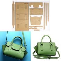 1 Set Acrylic Stencil Template DIY Leather Handmade Craft women handbag Shoulder bag Sewing Pattern 34x17x14cm