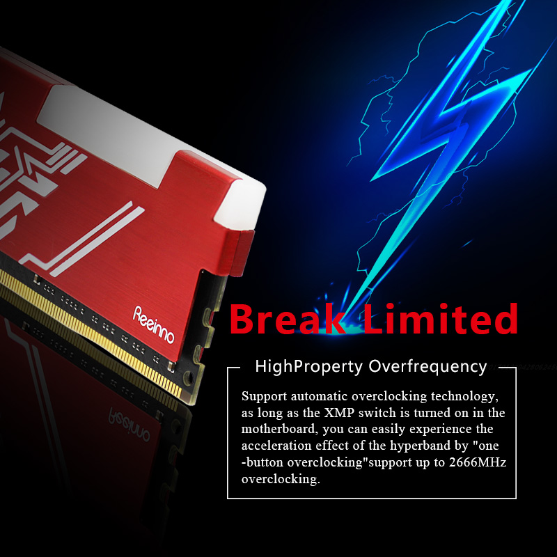 Image 5 - Reeinno RGB ram DDR4 8GB frequency 2666MHz 1.2V 288pin PC4 19200  CL=19 19 19 43 for PC game ram Lifetime Warranty Desktop memoryRAMs