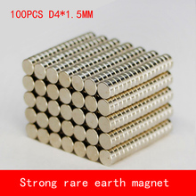 цены 100pcs 4x1.5mm n50 rare earth magnets strong neodymium disc magnet Free shipping wholesale 4*1.5