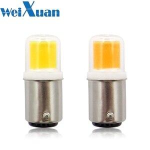 Image 1 - BA15D LED Light Bulb 3W 110V 220V AC Non dimming 300 Lumens COB 1511 LED Lamp White Warm White for Chandelier Sewing Machine 1pc