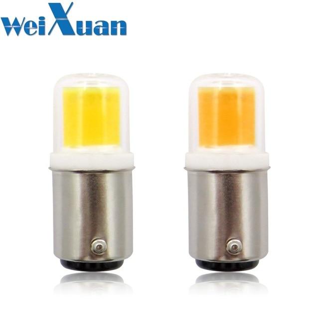 BA15D LED Light Bulb 3W 110V 220V AC Non dimming 300 Lumens COB 1511 LED Lamp White Warm White for Chandelier Sewing Machine 1pc
