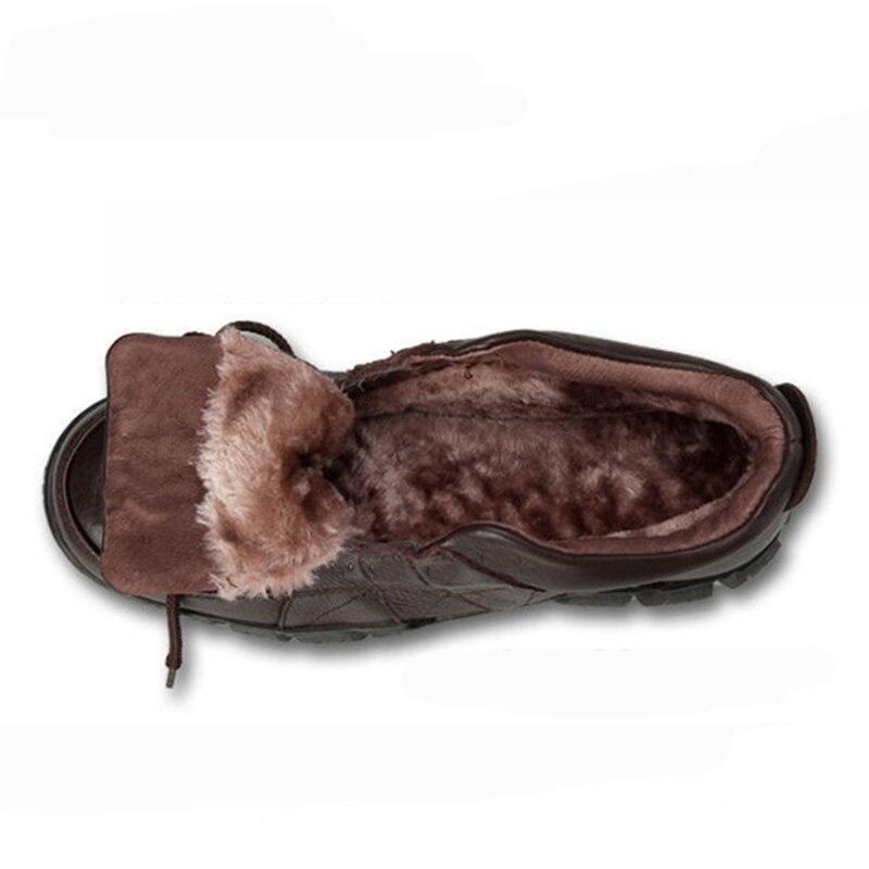 Fur Hombre Pursh Black brown Fur Zapatos Qualidade Prova Couro 46 Inverno À brown Botas Do 38 Neve Natural Quente Sapatos De Dos Ankle Tamanho black Boots Água Homens Trabalho g1wUqFn