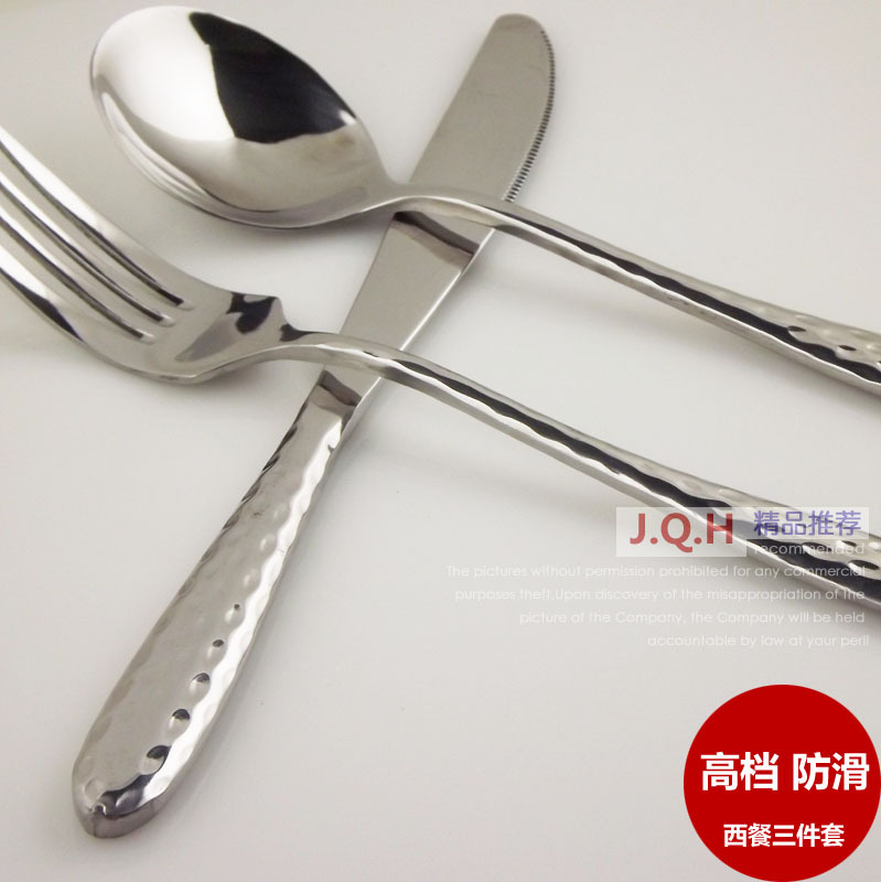 Quality western Dimples type Steak knife and fork spoon