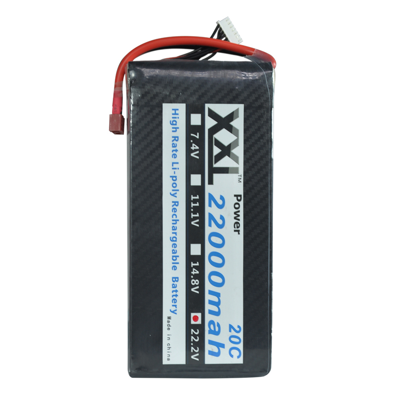 XXL RC Lipo Battery 22.2V 22000mAh 25C Max 50C For Quadcopter Helicopter S800 S1000 Drone