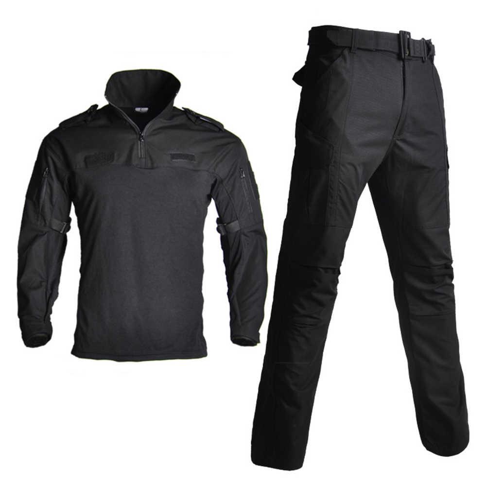 軍軍服 BDU 迷彩通気性戦闘スーツエアガン戦争ゲーム服セット速乾性シャツ + 戦術的なパンツ