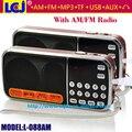 L-088AM dual band envío gratis recargable mini portátil digital de bolsillo SOY de radio FM con puerto USB TF tarjeta micro SD ranura