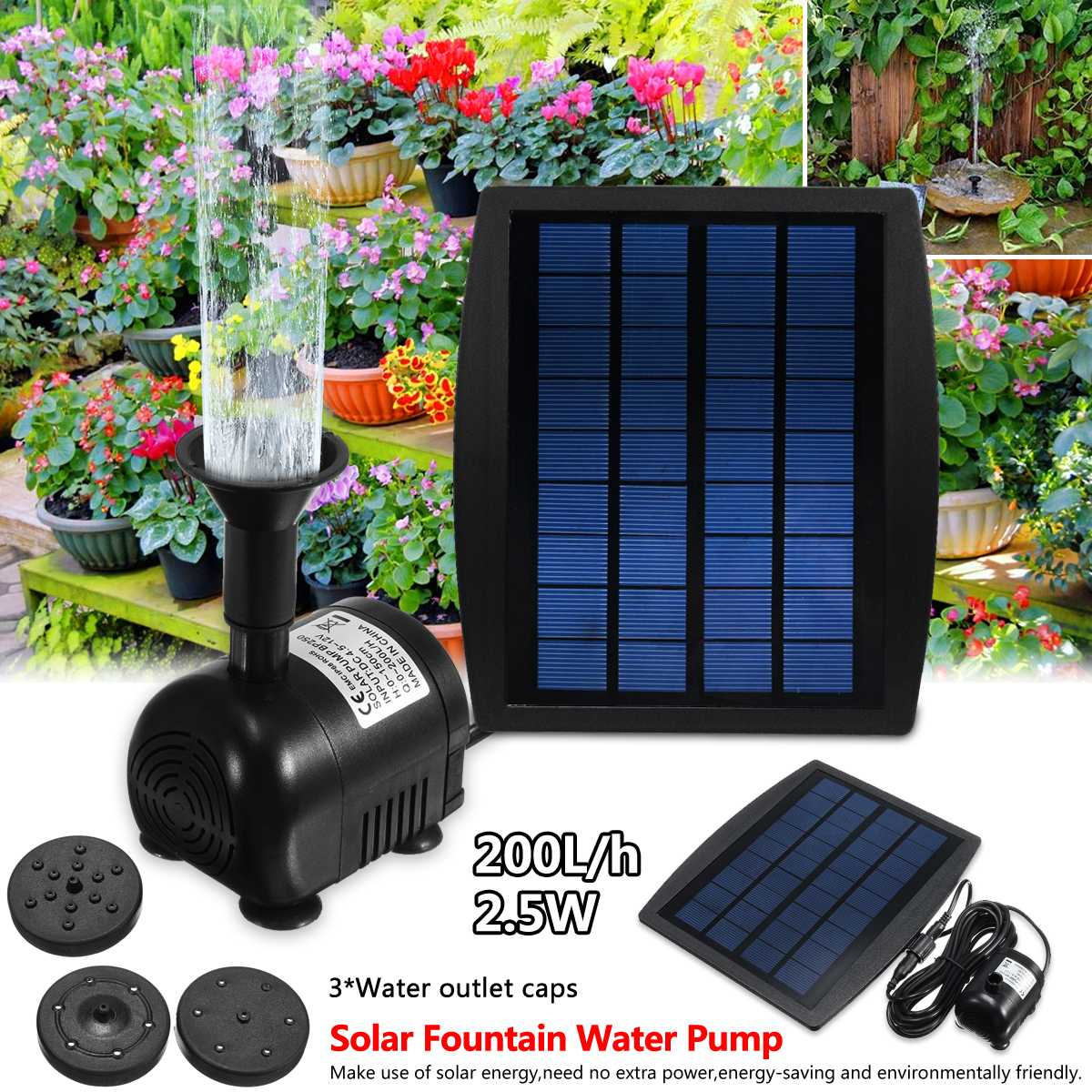 Solar Fountain Pump Us 24 54 46 Off 2 5w Solar Panel Floating Fountain Pump Kit Waterfall Outdoor Water Bird Bath In Pumps From Home Improvement On Aliexpress