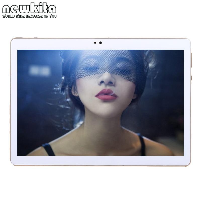 Newkita Cheap 10 inch 3G WCDMA Octa Core Tablet PC Android 7.0 RAM 4GB ROM 32GB 2MP+5MP 1280*800 IPS Dual SIM Bluetooth Phablet
