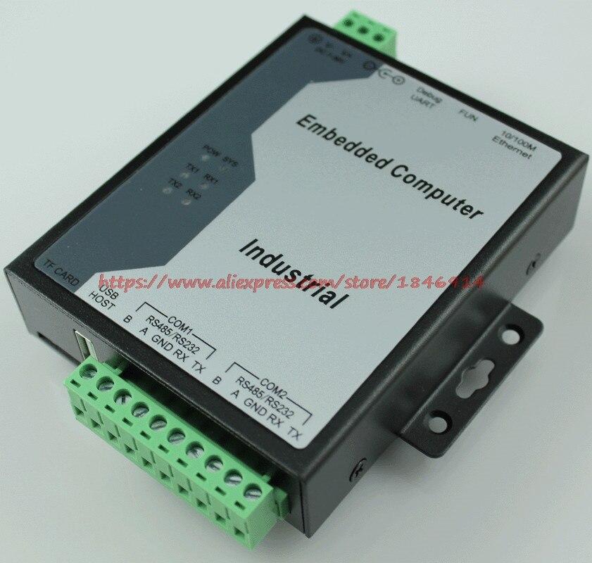 Livraison gratuite ordinateur industriel intégré serveur de port série à Ethernet RS485 à Ethernet ARM