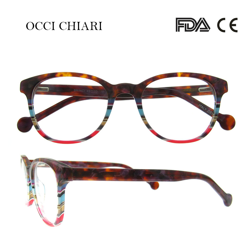 Image 4 - Recommend Good Quality Italy Design Acetate Navy Stripes Spring Hinge Eyeglasses Women Eyewear Clear Glasses Frame W CORRO-in Women's Eyewear Frames from Apparel Accessories