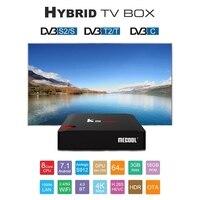 MECOOL KIII PRO DVB S2 DVB T2 DVB C Android 7.1 TV Box 3GB 16GB Amlogic S912 Octa Core 4K Combo CCCAM NEW CAMD Biss Key Power VU