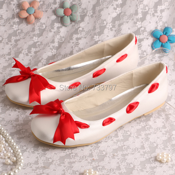 Bridal Shoes Wide Width: Wedopus Extra Width Bridal Shoes Flat Heel Round Toe Shoes