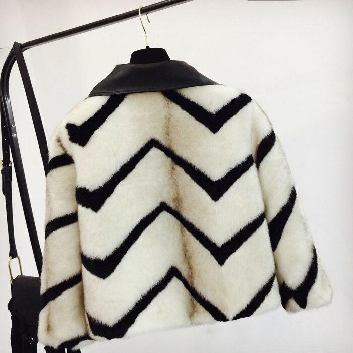 Manteaux Cuir Lâche Blanc D'hiver Automne 2019 Veste Femmes Et Décontracté Fourrure Des En De Courte Vestes Outwear Faux Piqué BSnq1wC