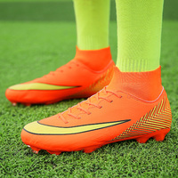 Football Shoes Futsal High Top Free Flexible Outdoor Turf Soccer Shoes Men Sneakers Professional Trainers Football Sock Boots