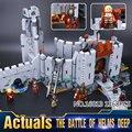 2016 Nueva LEPIN 16013 1368 Unids de El Señor de los Anillos La Batalla del Abismo de Helm Modelo Kit de Construcción de Bloques de Ladrillos de Juguete de Regalo Con 9474