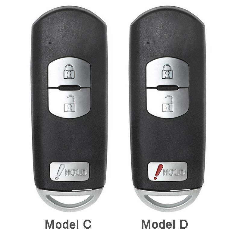 Image 4 - KEYECU for Mazda 3 6 CX 3 CX 5 Replacement 2/ 3/ 2+1/ 4 Button Smart Remote Car Key Shell Case Fob Red Hold with Uncut Blade-in Car Key from Automobiles & Motorcycles