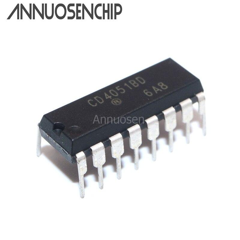 100pcs CD4051 CD4051BE CD4051BD DIP-16