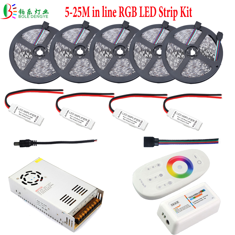 15m 10m 25m 5050 rgb led strip in line waterproof 20m flexible diode tape 2 4g rf remote rgb. Black Bedroom Furniture Sets. Home Design Ideas