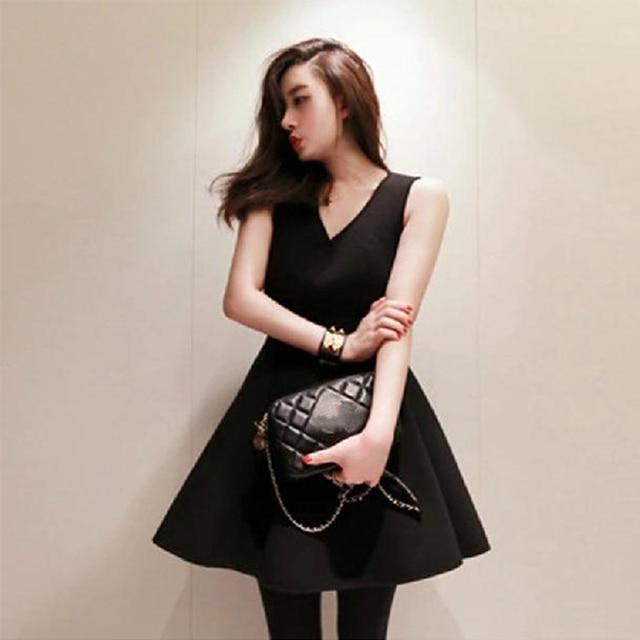Vintage Style Audrey Hepburn Little Black Dress New Slim Women Black Plus  Size S-XXXL a4914d3dbca0