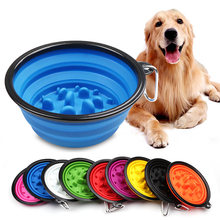 Jormel Pet Dog Cat Interactive Slow Food Bowls Collapsible Portable Gulp Feeder Healthy Bloat Dish For Feeding Tools
