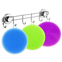 1PCS Silicone Cleaning Brush Bowl Washing Dishes Scouring Pads Kitchen Kitchenwar Pot Cleaner Tool