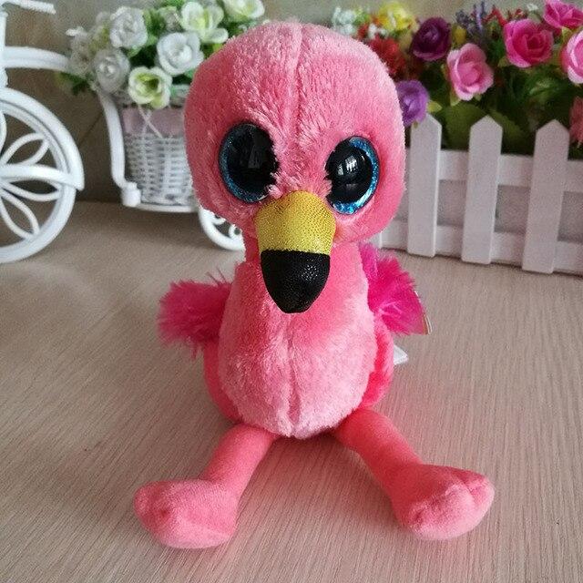 Gilda pink flamingo birds TY BEANIE BOOS COLLECTION 1PC 15CM BIG EYES Plush  Toys Stuffed animals 8184c16f4d11