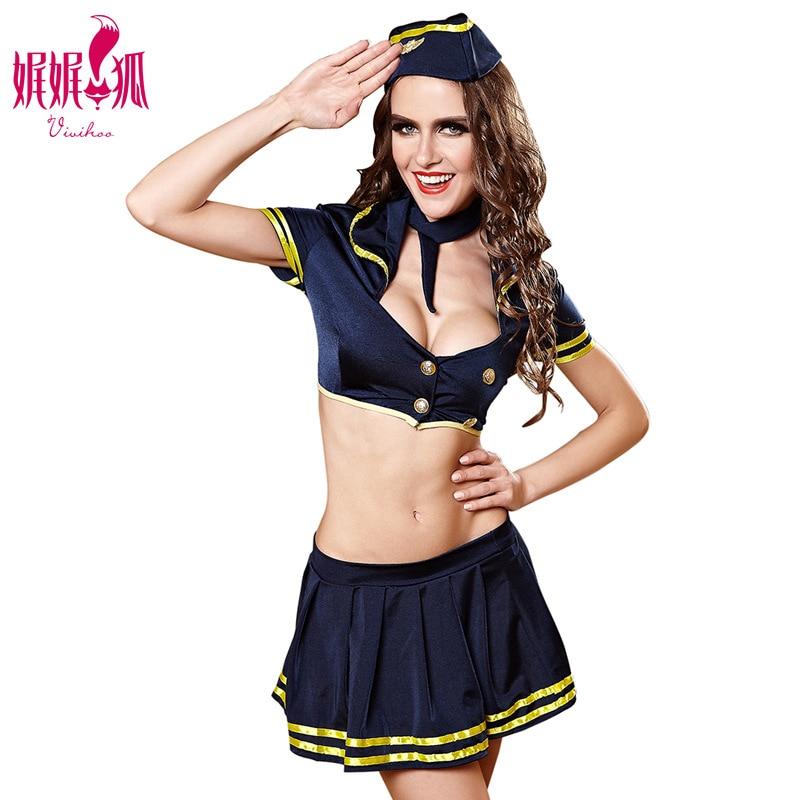 New Sexy Sailor Women Cosplay Lingerie Uniform Temptation Sexy Stewardess Flight Attendant Temptations Passion Clothes