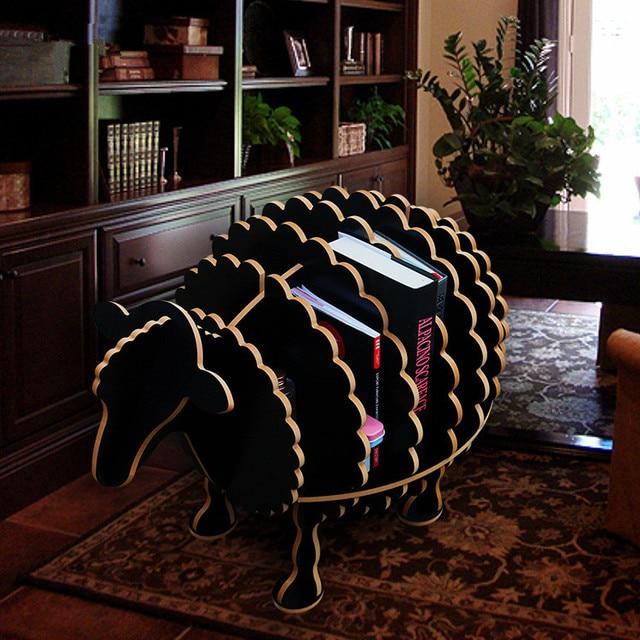wood craft deer coffee table book shelves sheep desk sheep table wood furniture